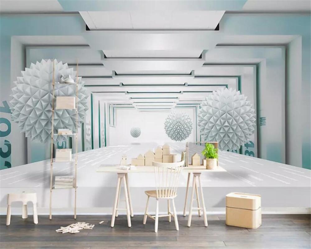 Esfera beibehang Personalizar qualquer tamanho 3d papel de parede 3d abstrato espaço arquitetônico moderno TV fundo papel de parede 3d papel de parede mural
