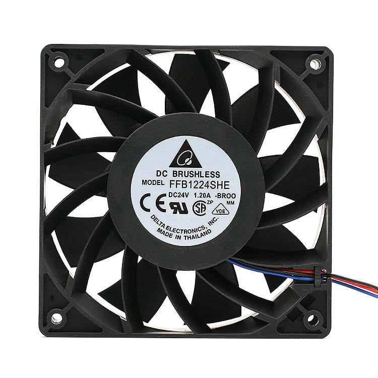 Para Delta FFB1224SHE 12038 120*120*38mm 24V DC 1.2A 5500 RPM gran volumen de aire convertidor ventilador de refrigeración para inversor