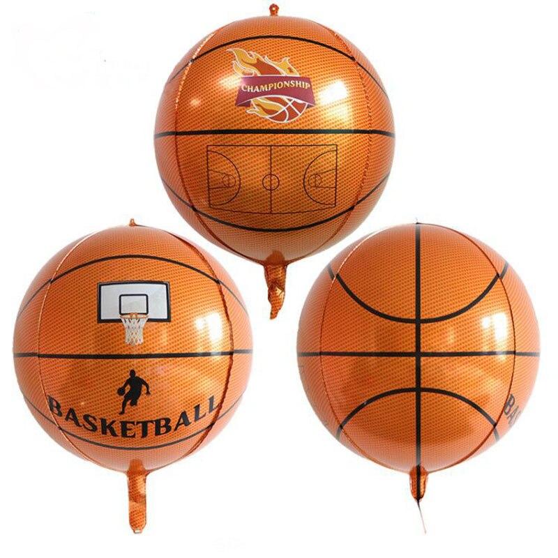 22 дюйма 4D Баскетбол Фольга воздушные шары со стереоскопическим Футбол Globos День рождения украшения дети воздушный шарик в виде футбольного мяча Надувные игрушки
