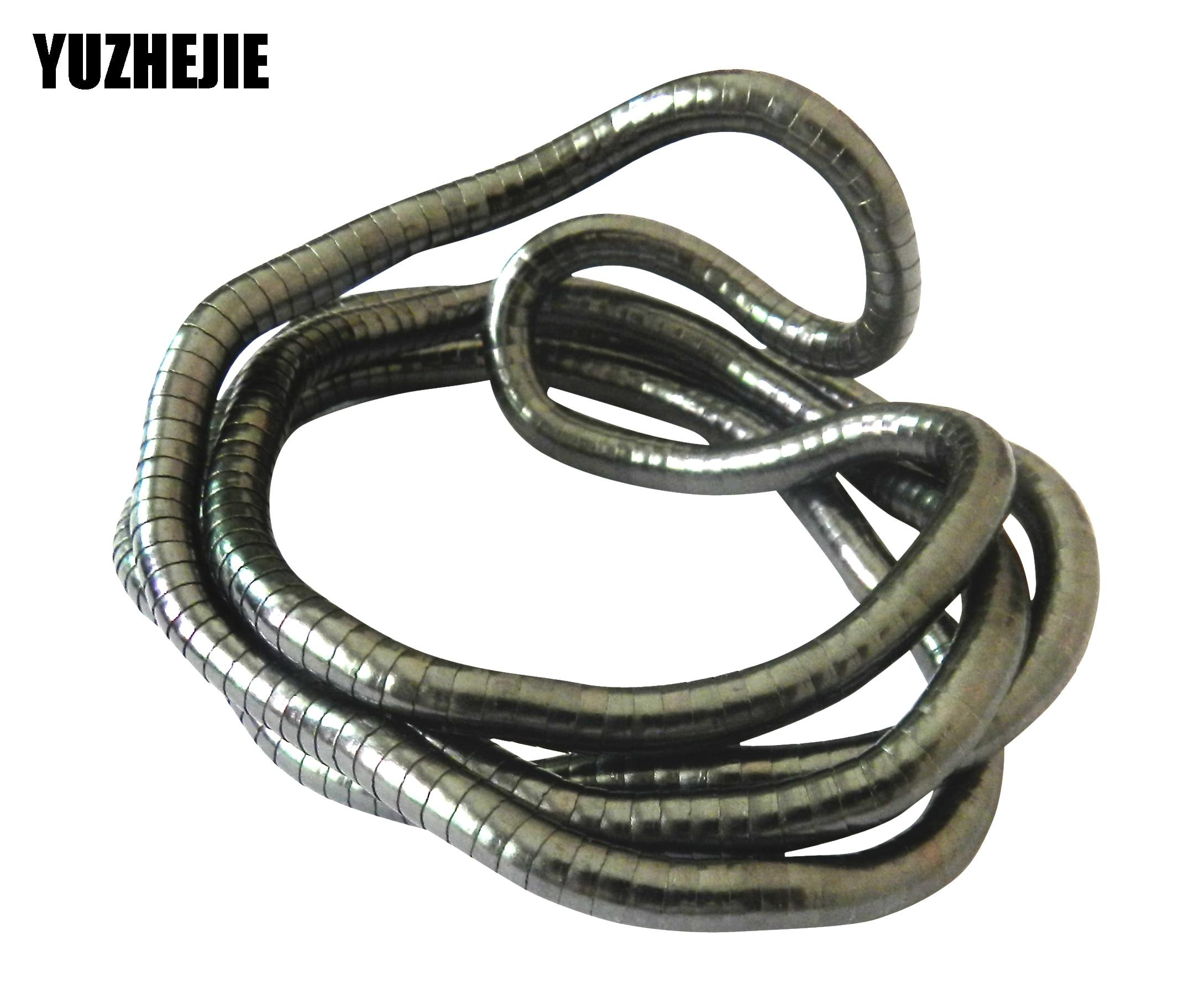 ¡YUZHEJIE 2018 nueva prisa! Collar retorcido de 900mm de longitud, cadena de serpiente Flexible, collares de joyería