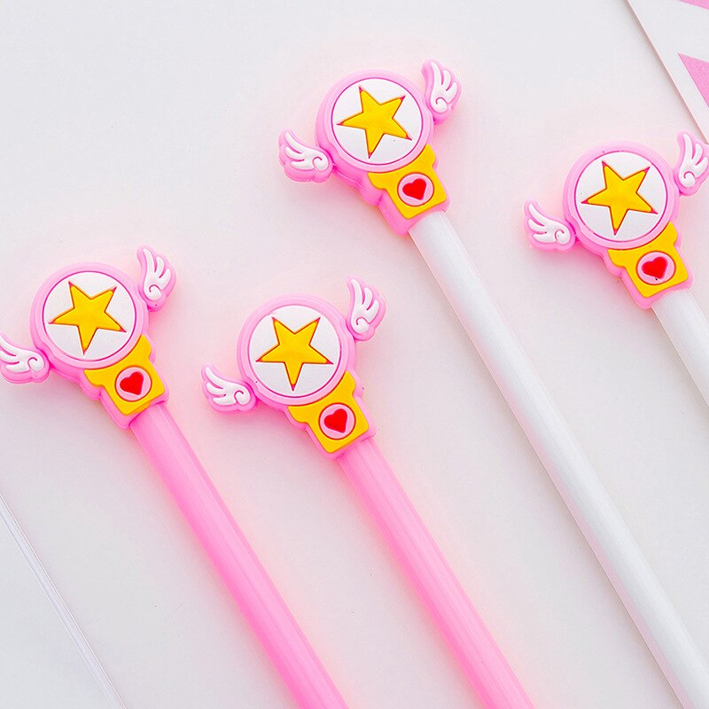 0.5mm Cute Kawaii Magic wand Gel Pen Signature Pens Escolar Papelaria For Office School Writing Supplies Stationery Gift