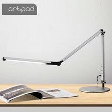 Artpad moderne LED lampe de bureau avec bras Flexible variateur luminosité soin des yeux travail bureau lampe de Table avec Clip pince télécommande