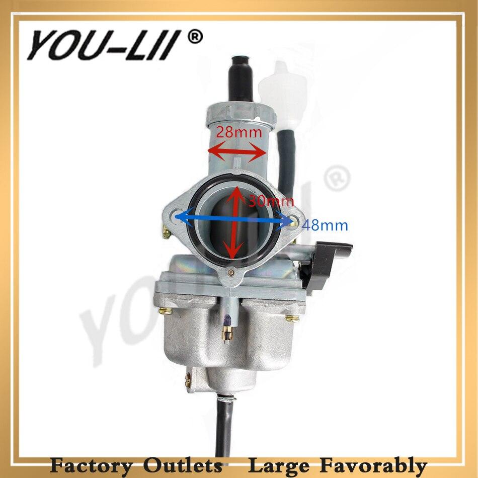 YOULII OEM New Keihin PZ26 PZ27 PZ30 Motorcycle Carburetor Carburador Used For CG125 CG150 CG200 TTR250 Moto Model