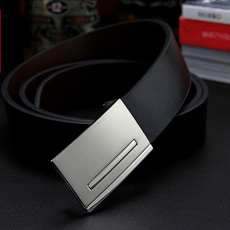 New men's genuine leather belt male cowskin belt formal suit trousers strap double use metal buckle belt gift for men belts