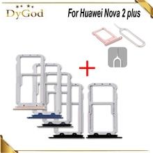 For Huawei Nova 2 plus SIM Card Tray Slot Holder Adapter Repair For Huawei Nova 2 plus With Take Sim