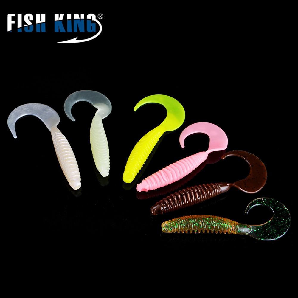 FISH KING 5 unids/lote 9,8 CM/8G Pesca Shad para Pesca gusano swimbait Jig Head mosca Pesca accesorios suave señuelo Pesca con cebo blando