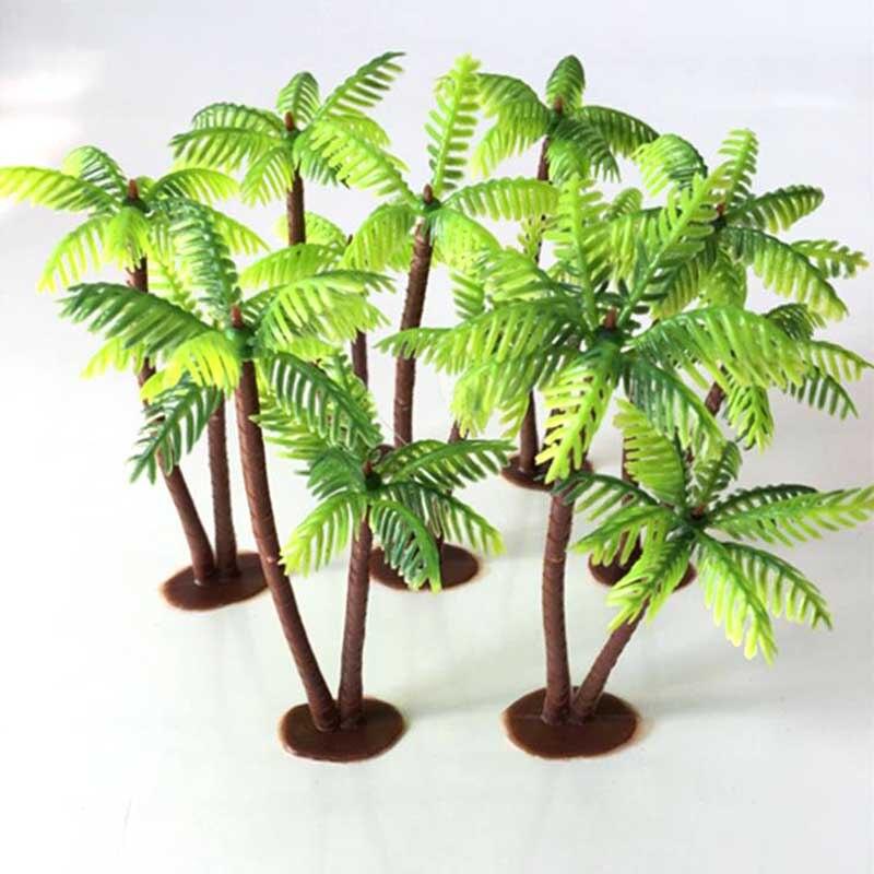 Planta Artificial de coco árbol miniatura planta Bonsai plástico artesanía Micro paisaje DIY fiesta falso planta escritorio decoración árbol