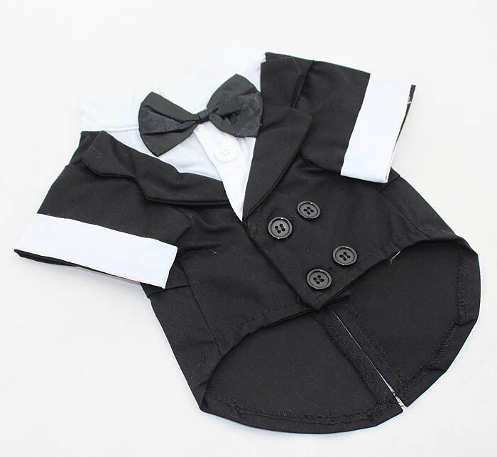 1 Uds. Traje de boda de moda para perros y mascotas, chaqueta para perros, ropa para cachorros, chaqueta de novio, ropa para perros, prendas de vestir, ropa para XS-XL