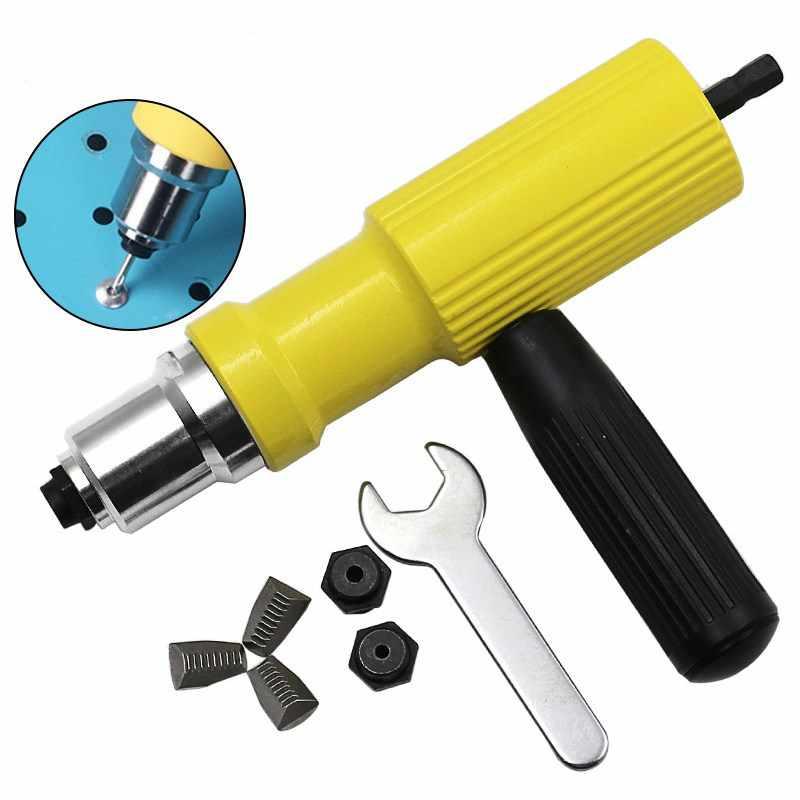 New 2 4mm 4 8mm Electric Rivet Nut Gun Riveting Tool Cordless Riveting Drill Adaptor Insert Nut Tool Riveting Drill Adapter Nail Guns Aliexpress