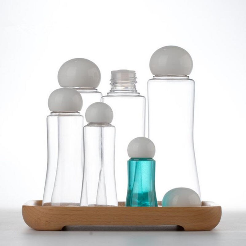 Botella de embalaje de cubierta de tornillo, botella de agua de maquillaje recargable de 15 ml 30 ml 50 ml, contenedor de cosméticos vacío 100/120/160 ml F20172020