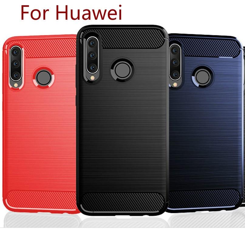 A prueba de golpes a prueba de la contraportada para Huawei P40 litro pro Nova6 V30 amigo P30lite P20lite Pro de fibra de carbono TPU caso Honor 9X 20i cubierta