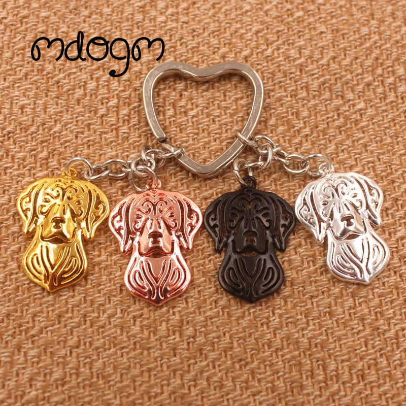 2020 Vizsla perro Animal oro plateado llavero colgante de Metal para bolso coche mujeres hombres llavero amor joyería AKC K147