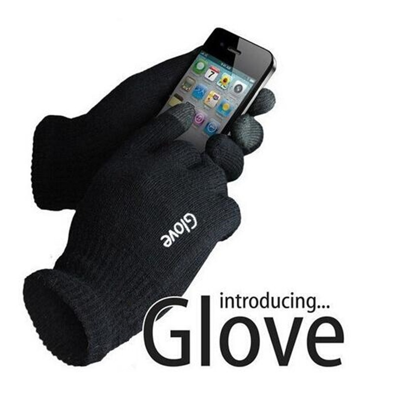 CHSDCSI Fashion Unisex Gloves Colorful Mobile Phone Touched Gloves Men Women Winter Mittens Black Wa