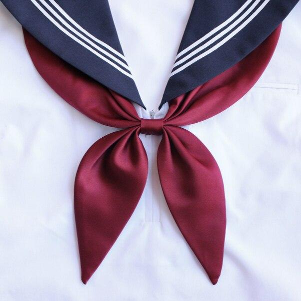 Goldfish Pre-pañuelo para lazo Escuela Japonesa corbata de lazo de las muchachas mujeres JK uniforme estudiantes corbata Cosplay 14 colores