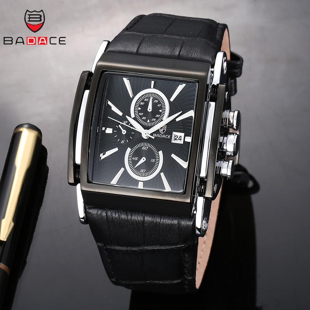 BADACE 2019, relojes de moda para hombre, correa de cuero, reloj de lujo para hombre, reloj de pulsera deportivo, reloj Masculino 2098