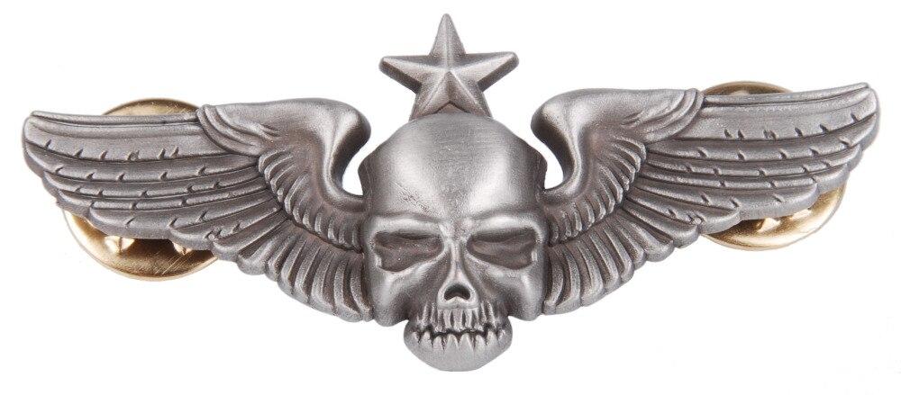 Exército dos eua 101ST AIRBORNE asa emblema do METAL PARACHUTE crânio PIN INSIGNIA - 38055