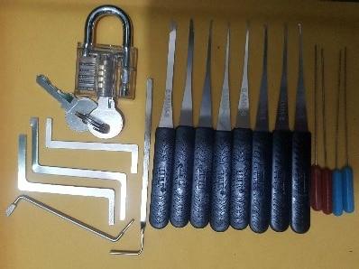 Ferramentas de serralheiro Tension Wrench Ferramenta Quebrada Chave Extractor Transparente Prática de Bloqueio escolha set door lock opener