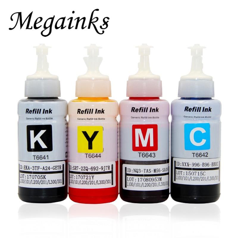 4 цвета на основе красителя заправка чернил комплект для Epson L100 L110 L120 L132 L210 L222 L300 L312 L355 L350 L362 L366 L550 L555 L566 принтер