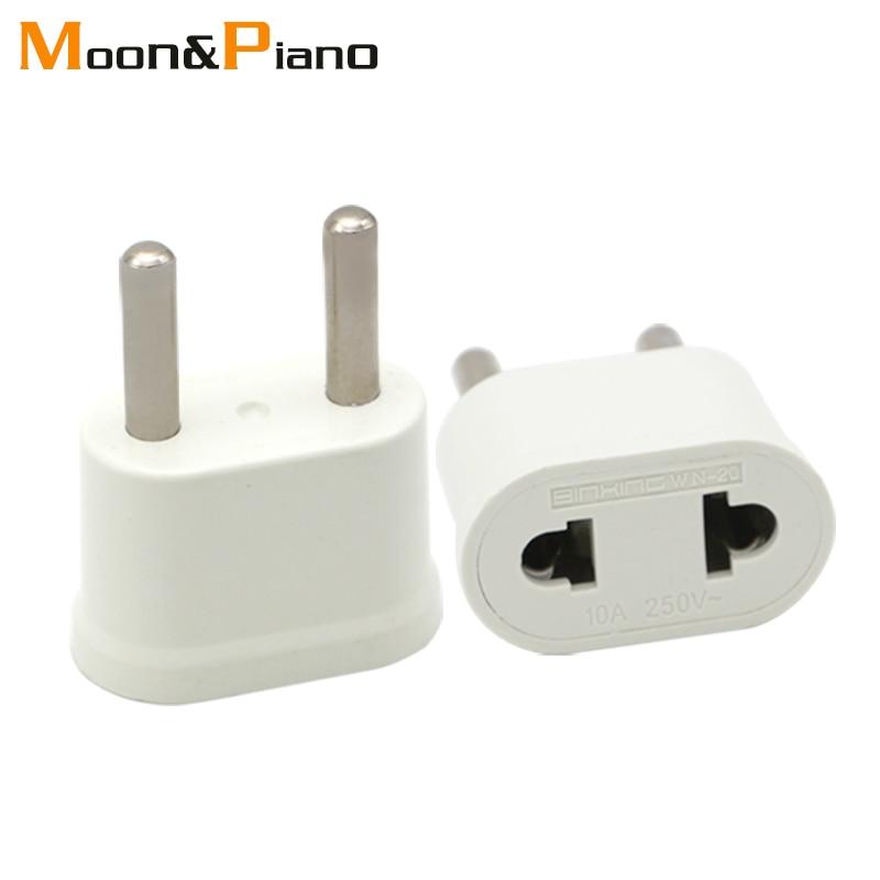 EU Adapter Plug USA to Euro Europe Travel Wall Electrical Power Charge Outlet Sockets US China to EU 2 Round Pin Plug Socket