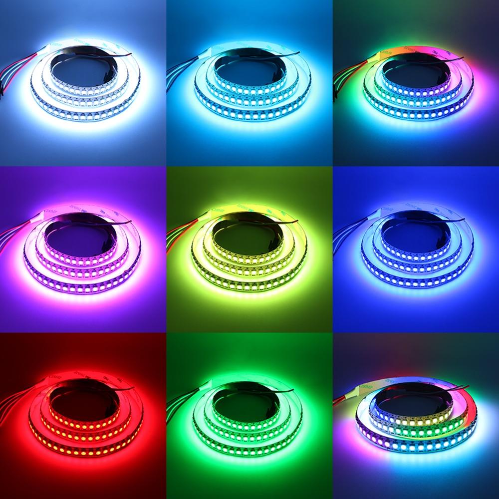 W2812B DC5V LED Pixel Strip Lights IC Build - in Compute Light 144LEDs/M