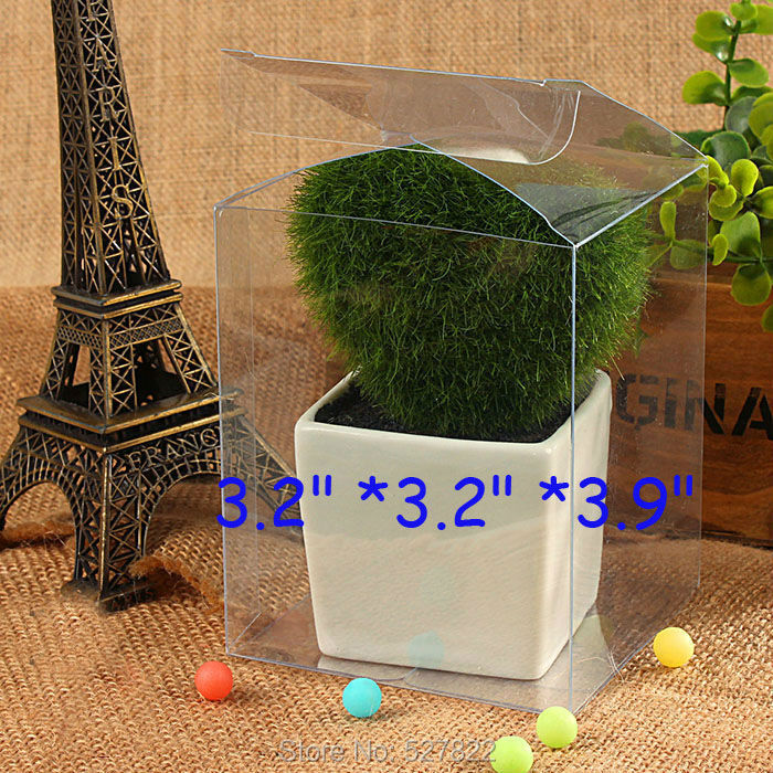 Caja de juguete rectangular de plástico transparente de 50 Uds., 8x8x10cm, caja de exhibición de tela, caja de regalo para fiesta, envío gratis