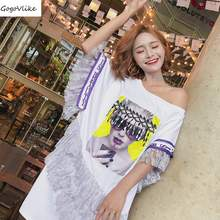 White Dress Off the Shoulder 2018 New Summer Women Chic Clothing Cute Tassel Sunglass  Mini Vestido Big Size Harajuku LT295S30