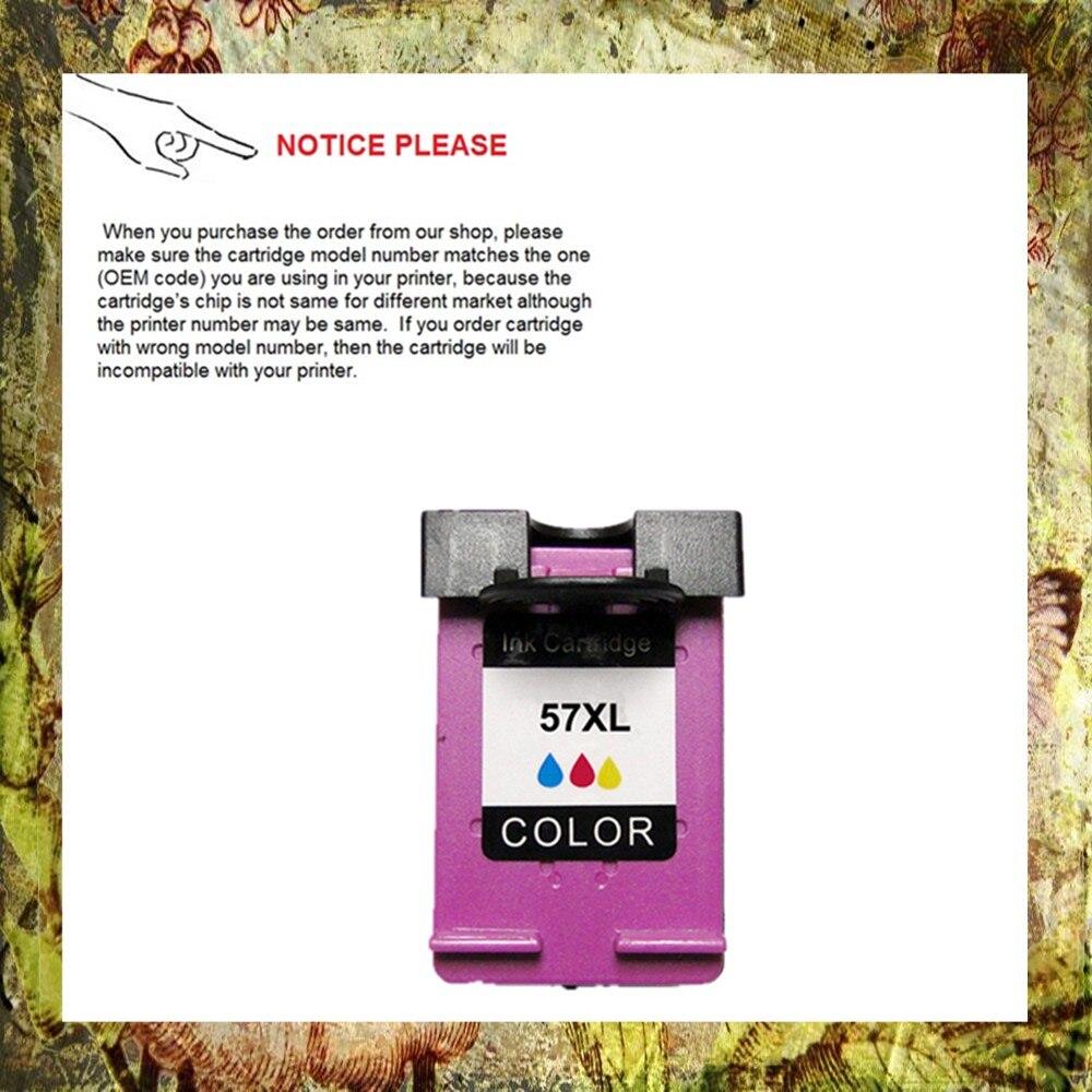 YOTAT remanufacturado para cartucho de tinta HP57 para HP Deskjet 450/5150/5550/5552/5650/5652/5850/9650/9670/9680/PSC 1110/1210