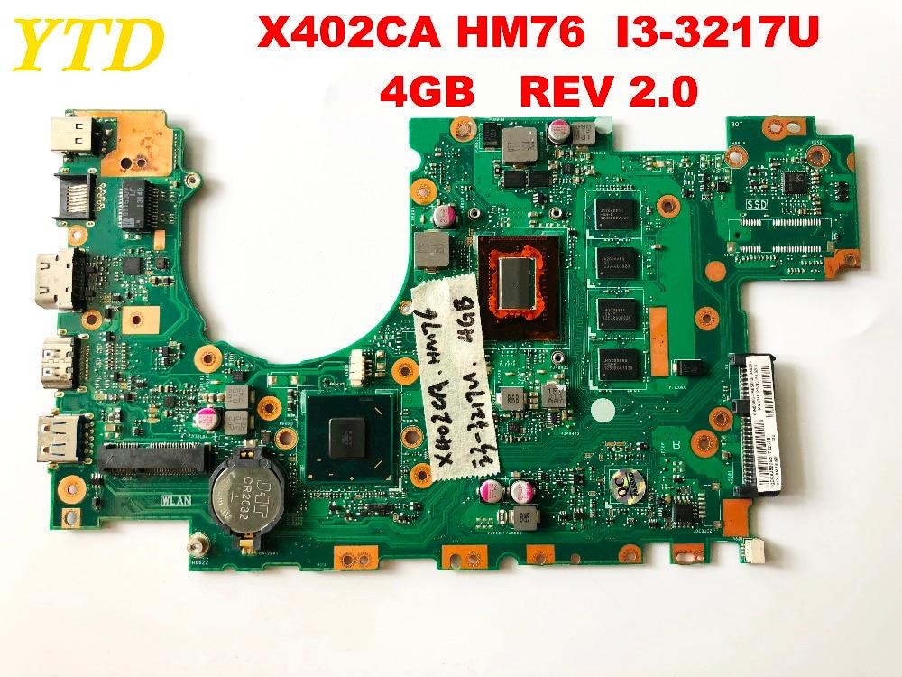 الأصلي ل ASUS X402CA اللوحة المحمول X402CA HM76 I3-3217U 4GB REV 2.0 اختبار جيد شحن مجاني