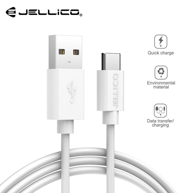 Cable Jellico USB tipo C para USB-C, Cable de datos tipo c para teléfono móvil, carga rápida, Cable de cargador USB para Samsung Galaxy S9 S8 Plus
