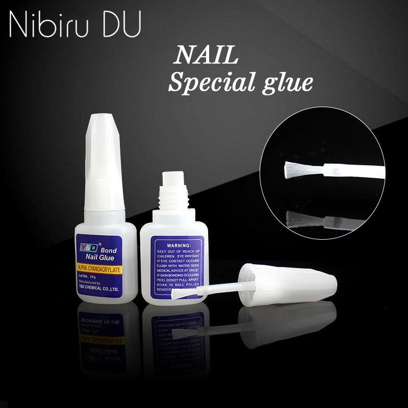 Top quality 3pcsx10g Rhinestones Decoration With Nail Art UV Gel Nail Tips Glue Fast Drying False Manicure Glue
