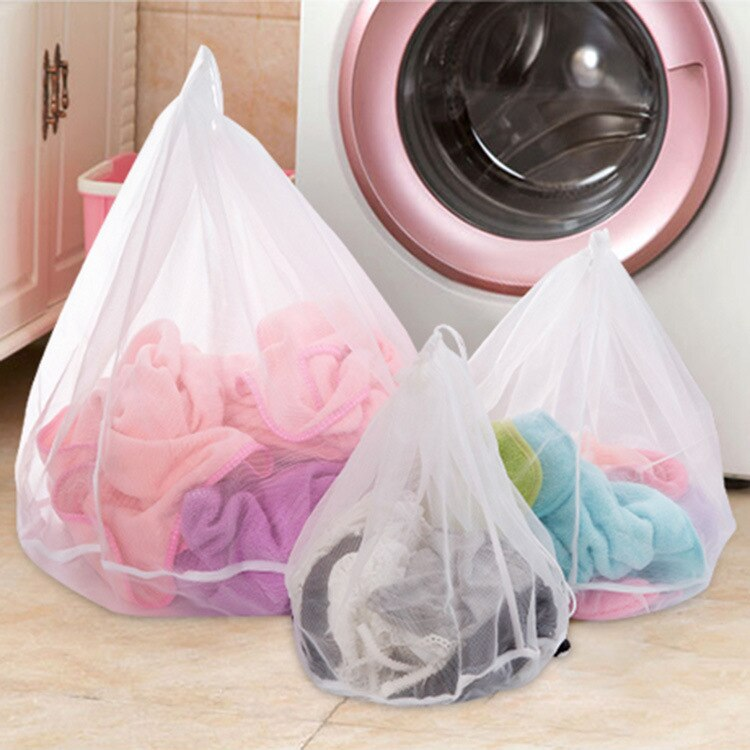 Bolsas para lavar la colada de malla de 3 tamaños, ropa interior plegable, calcetines para sujetador, lavadora, filtro de red de protección de tela, bolsa para el cuidado de la ropa de lavandería