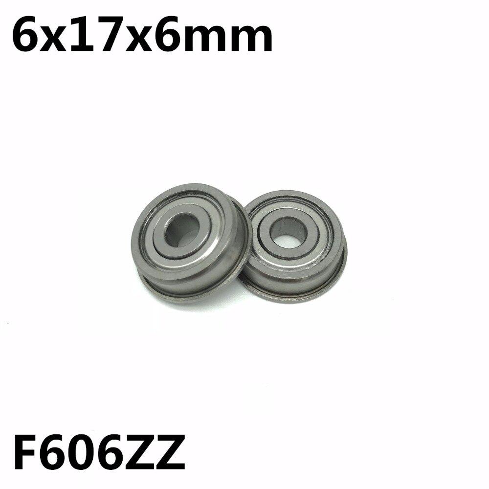 محمل كروي ذو أخدود عميق ، 50 قطعة ، F606ZZ 6x17x6 مم ، جودة عالية F606