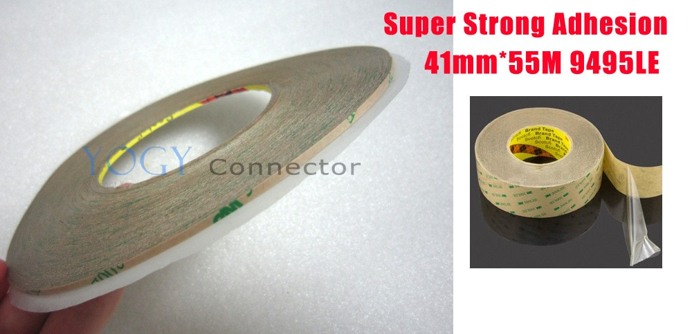 1x 41mm * 55M 3M 9495LE 300LSE 2 lados cinta adhesiva fuerte para teléfono móvil Tablet marco Touch lentes de pantalla LCD Bond