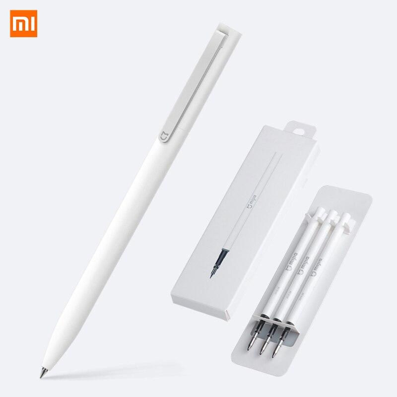 Original Xiaomi Mijia P E N con 0,5mm suizo recarga 143mm rodillo de bola Mi Xiomi señal firma bolígrafo de casa inteligente