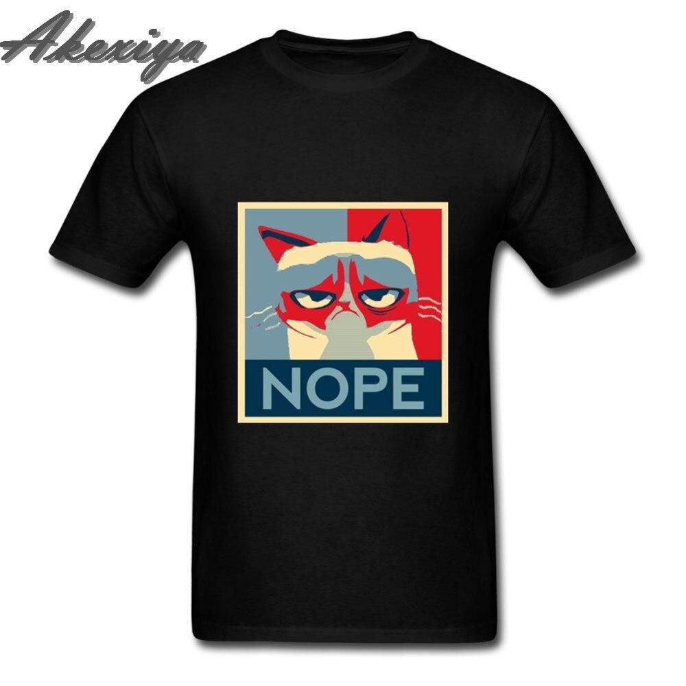 Camiseta de gato Nope Back To Life, camiseta con letras para hombre, camisetas con impresión de Anime, ropa de algodón para hombre, camisetas negras de Japón, ropa Kawaii