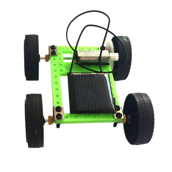 Coche de juguete Solar, 1 Juego, Mini juguete con energía Solar, Kit de coche Diy, Gadget educativo para niños