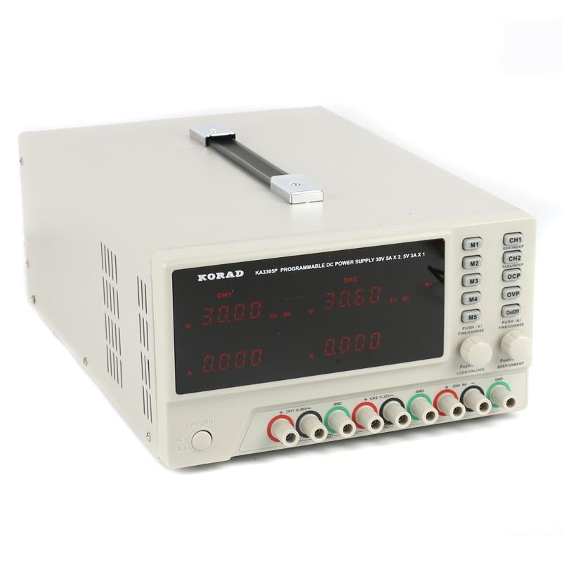KORAD KA3305P Programmable Precision Variable Adjustable 30V 5A USB RS232 Ports Digital DC Triple Linear Power Supply Lab Grade