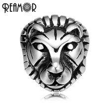 Reamor 2 Mm 316L Rvs Animal Lion Head Bedels De Koning Der Dieren Spacer Kralen Voor Armband Sieraden maken