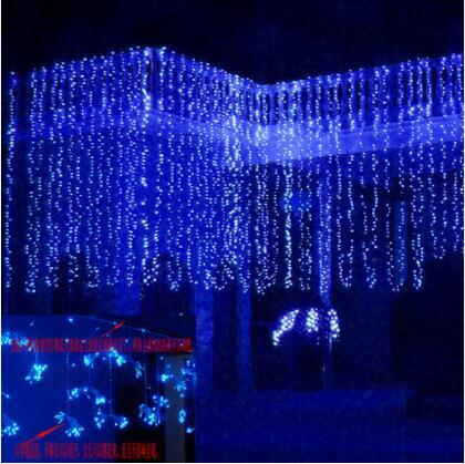 Happy New Year! 10x4M LED Curtain String Lights Garland  LED Christmas Lights Beautiful Outdoor Cristams Decoration Cortina De