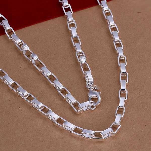 Atacado 925 jóias de prata banhado caixa longa colar, New Design colar pingentes, Smtn200 frete grátis