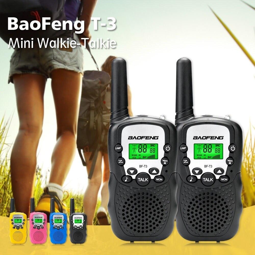 Портативная мини-рация Baofeng, портативная 8-канальная детская двусторонняя радиосвязь, 10 телефонных звонков, кв трансивер, коммуникатор T3, 1 п...