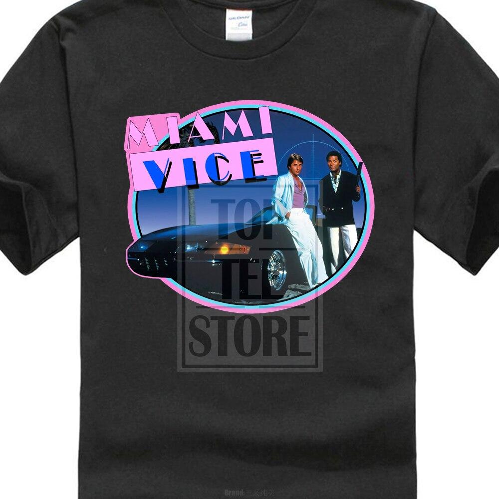Новинка, ретро сериал Miami Vice 80, Мужская черная футболка Don Johnson, Размеры S 3xl, футболки, брендовая одежда, забавная футболка