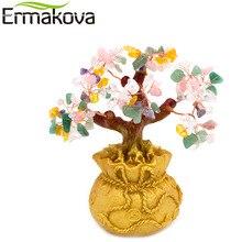 ERMAKOVA Feng Shui richesse cristal argent arbre bonsaï Style richesse chance maison boutique décor anniversaire cadeau daffaires (coloré)