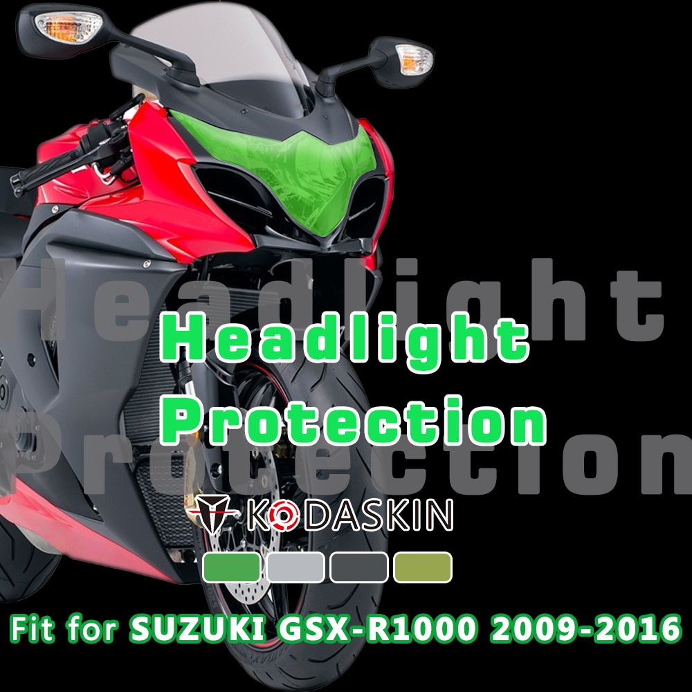 Kodaskin acessórios da motocicleta abs farol capa de proteção de tela guarda farol para suzuki gsxr 1000 gsxr1000 2009-2016