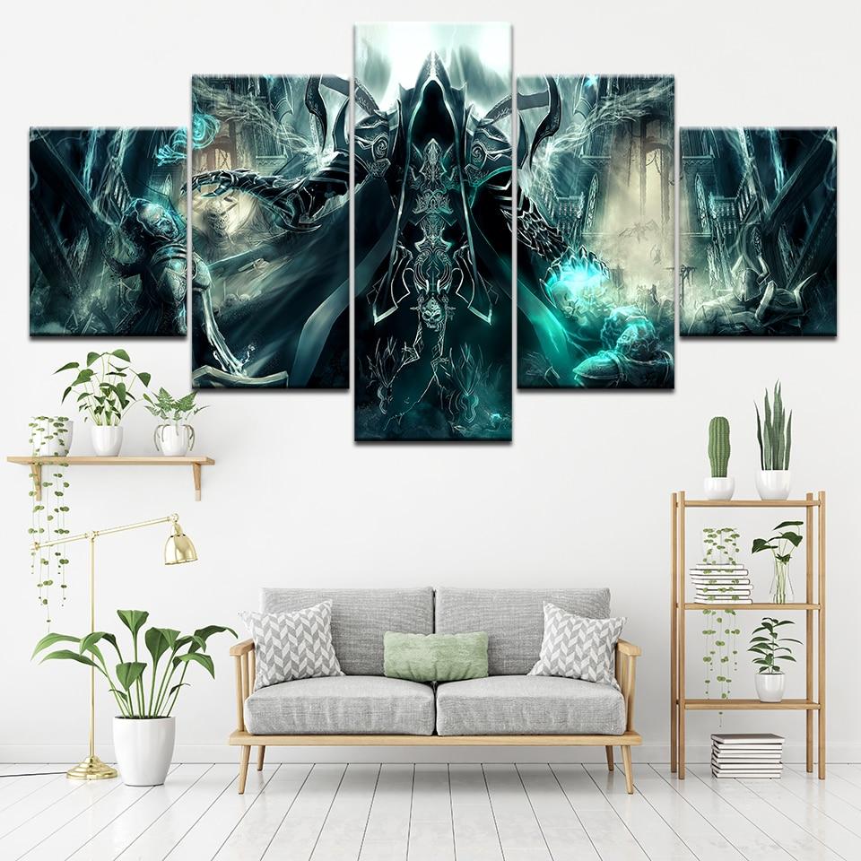 Pintura en lienzo de la edición definitiva Evil, 5 piezas, arte de pared, pintura Modular, póster, impresión, decoración del hogar