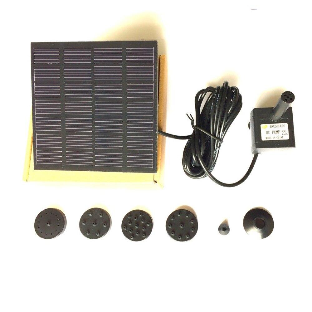 1 2 Вт солнечная панель набор с водяным насосом для бассейна сада пруда птичьей