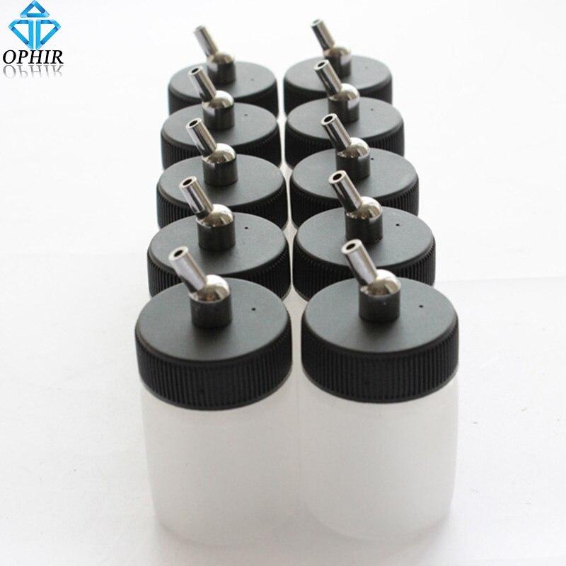 10 шт., пластиковые бутылки 22 куб. См для аэрографа двойного действия