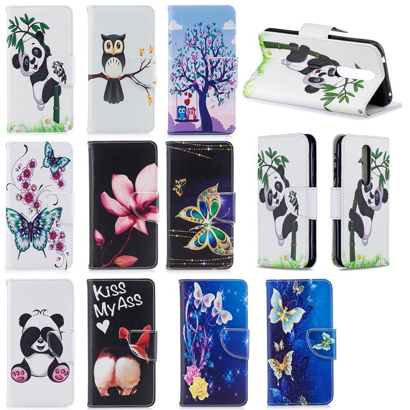 Panda unicornio estampado de mariposa libro Flip Case para Nokia 1 Plus funda cartera Stand Case para Nokia 4,2 2019 funda para Nokia 2,2 3,2