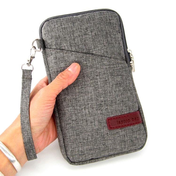 Manga del Ordenador Portátil Bolsa para GPD bolsillo 2 Pocket2 ámbar negro 7 pulgada portátil pequeña UMPC sistema Windows 10 del trazador de líneas del bolso de la cubierta protectora