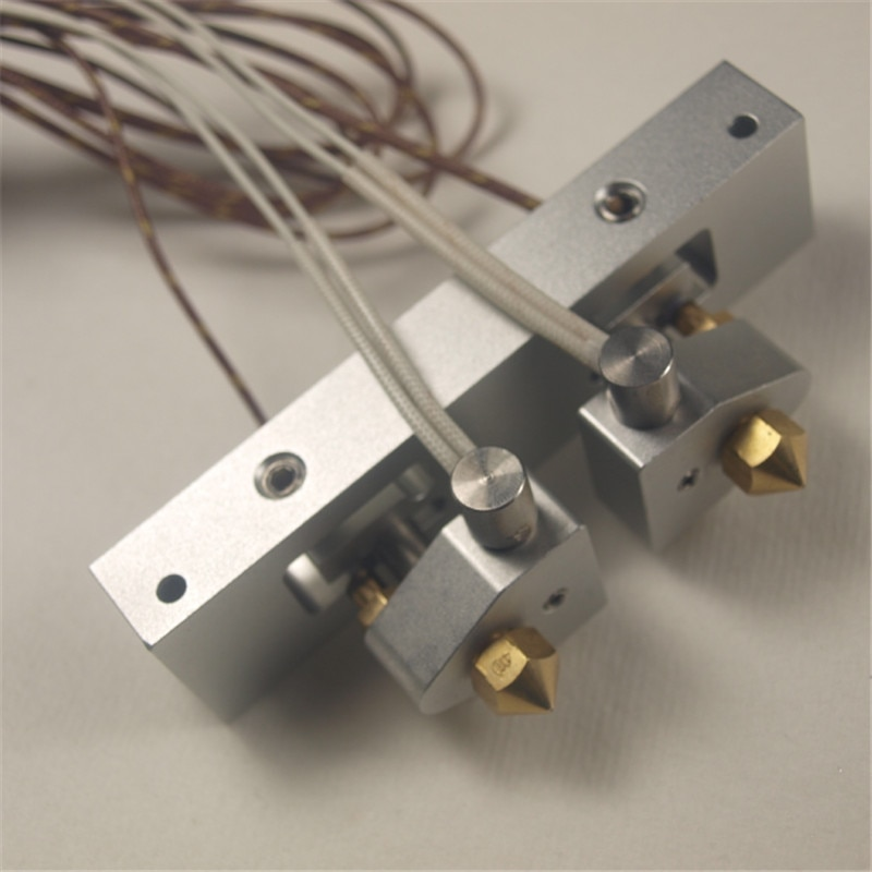 Replicador 2X kit de montaje de extremo caliente doble extrusor Replicator 2X montaje de barra con termopar trenzado